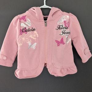 Calvin Klein jeans pink zip up hoodie